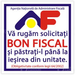 Autocolant Bon Fiscal