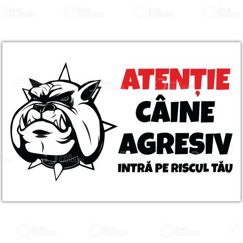 Indicator Atentie Caine Agresiv