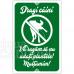 Indicator Nu udati plantele