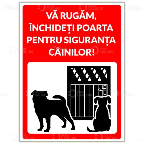 Indicator Inchideti poarta pentru siguranta cainilor
