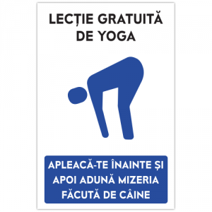 Indicator Lectie de yoga
