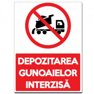Indicator Depozitarea gunoaielor interzisa