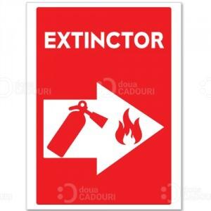Indicator Extinctor (in caz de incendiu)