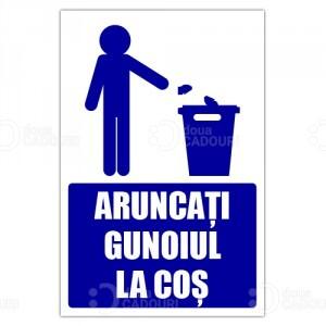 Indicator Aruncati gunoiul la cos