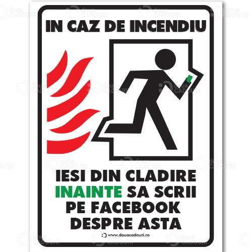 Indicator Iesire de incendiu amuzant