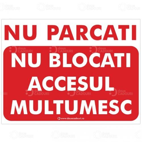 Indicator Nu blocati accesul