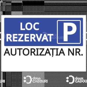 Indicator Loc rezervat personalizat