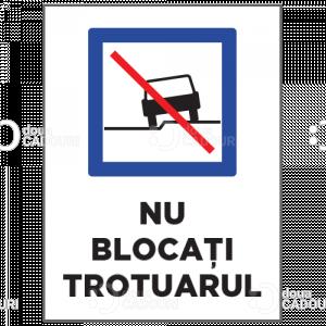 Indicator Nu blocati trotuarul