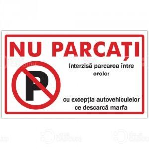 Indicator Nu parcati personalizat