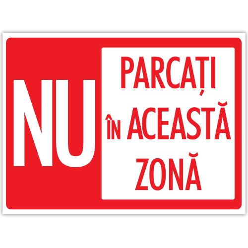 Indicator Nu parcati in aceasta zona