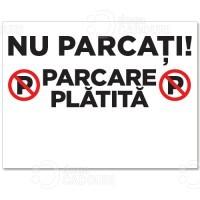 Indicator Parcare platita personalizat