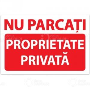 Indicator Nu parcati - Proprietate privata