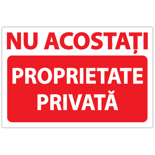 Indicator Nu acostati Proprietate privata