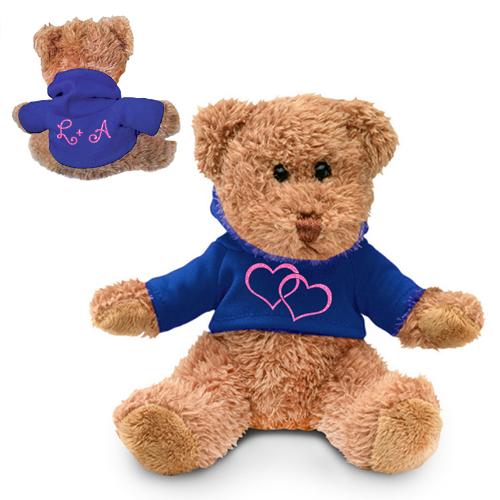 Ursulet cu inimioare si initialele voastre