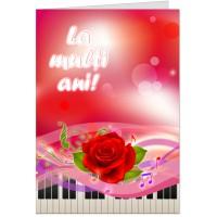 La multi ani cu note muzicale si pian
