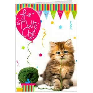 La multi ani cu pisicuta