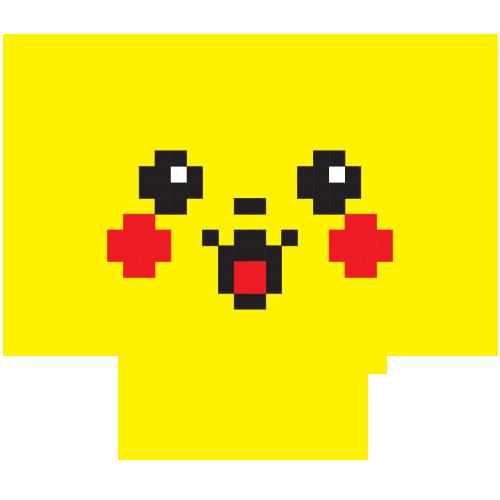 Mousepad Pixelchu in forma de inima