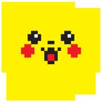 Mousepad Pixelchu rotund
