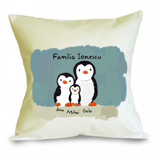 Perna personalizabila Familie de pinguini (3)