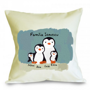 Perna personalizabila Familie de pinguini (4)
