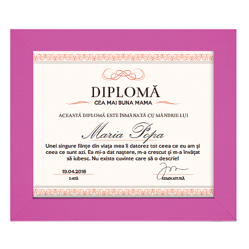 Diploma personalizata