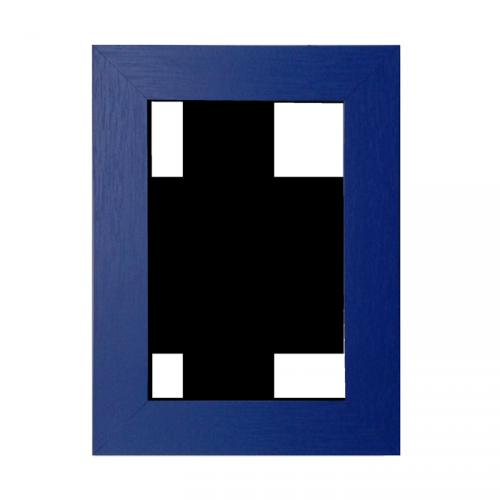 Rama foto lemn albastra