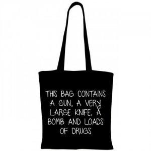 Sacosa This bag contains a bomb