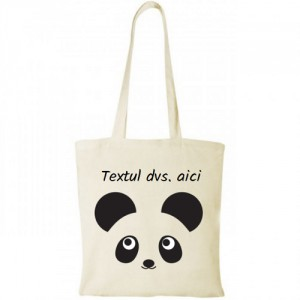 Sacosa personalizata Panda