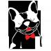 Sacosa Bulldog francez cu papion