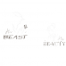 Tricouri pentru cuplu Beauty & Beast - trandafir