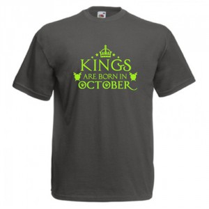 Tricou personalizat Kings are born in