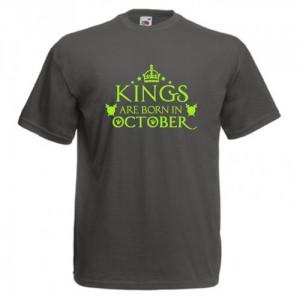 Tricou personalizat Kings are born in