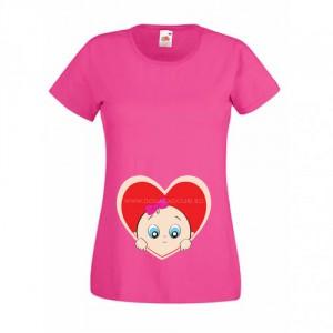 Tricou Cucu bau inimioara (fetita)