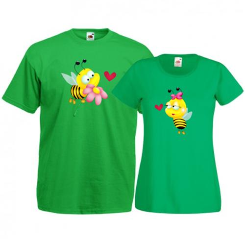 Tricouri pentru cuplu Albinute
