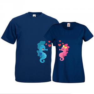 Tricouri pentru cuplu Caluti de mare