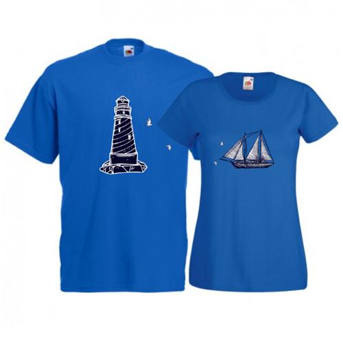 Tricouri pentru cuplu Far - Corabie