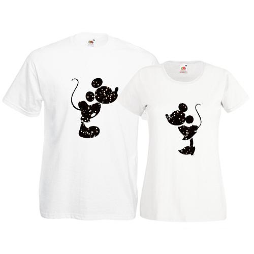 Tricouri pentru cuplu Mickey Minnie