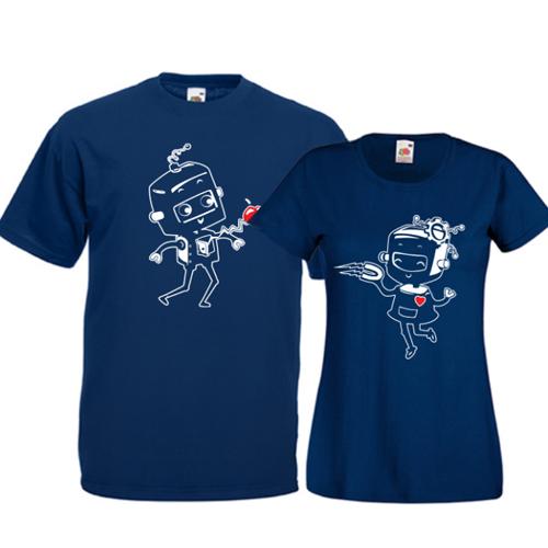 Tricouri pentru cuplu Roboti