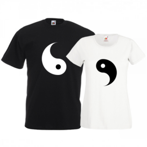Tricouri pentru cuplu Yin Yang