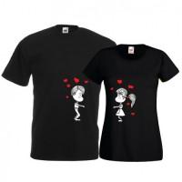 Tricouri pentru cuplu Sarut