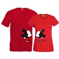 Tricouri pentru cuplu Minnie si Mickey