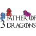 Tricou Father of 3 Dragons