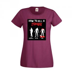Tricou How to kill a zombie