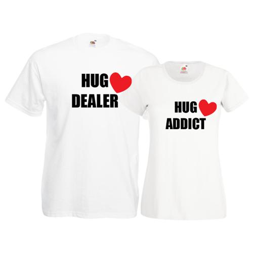 Tricouri pentru cuplu Hug Dealer - Hug Addict