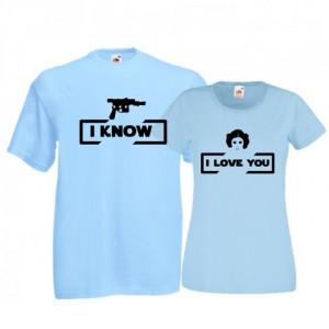Tricouri pentru cuplu I love you