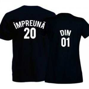 Tricouri pentru cuplu Impreuna din (cu anul in care v-ati cunoscut)