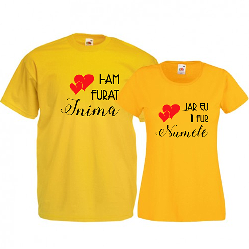Tricouri pentru cuplu Am furat