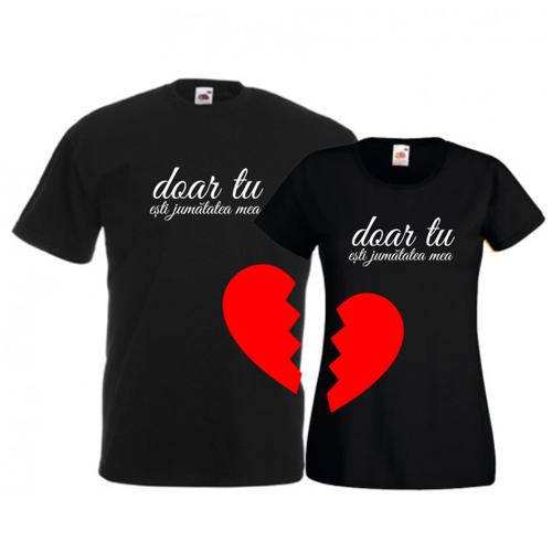 Tricouri pentru cuplu Jumatatea mea