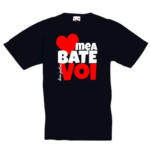 Tricou personalizat Inima mea bate pentru voi