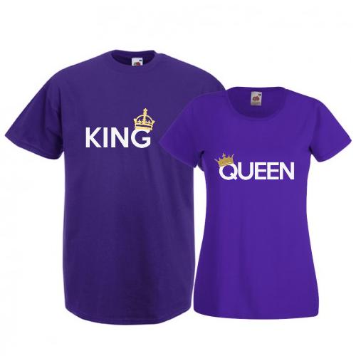 Tricouri pentru cuplu King - Queen